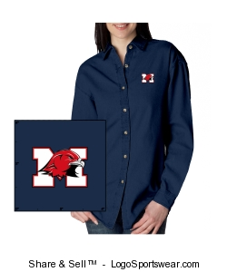 Ladies Longsleeve Denim Shirt Design Zoom